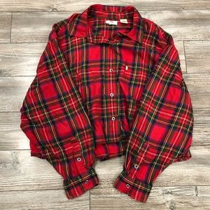 Levi's Cropped Button-Down